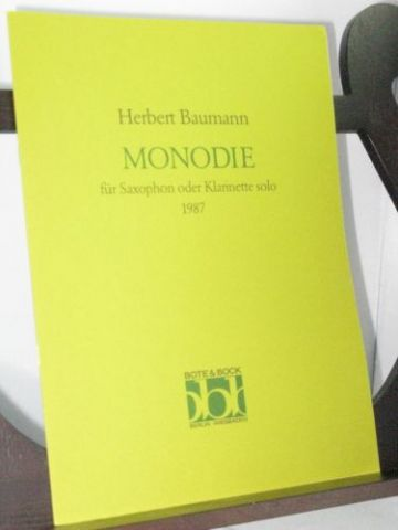 Baumann H - Monodie for Solo Clarinet or Saxophone
